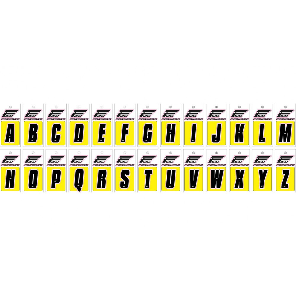 LETTERS FRONT PLATE FORWARD - BLACK