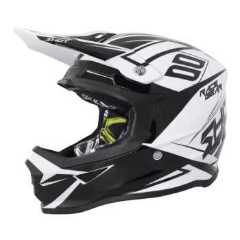 HELMET SHOT FURIOUS ALERT BLACK/WHITE