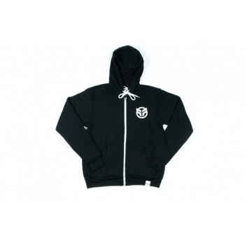 SWEAT FEDERAL LOGO  ZIP HOOD BLACK