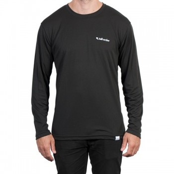 TALL ORDER LONG SLEEVE BREATHE-TECH T-SHIRT BLACK