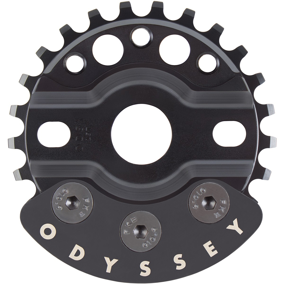 COURONNE ODYSSEY HALFBASH (w/guard) 25T & 28T BLACK
