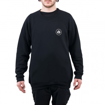 SWEAT ECLAT CIRCLE ICON BLACK