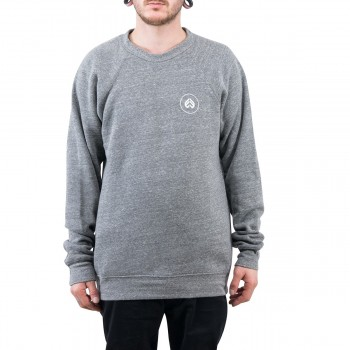 ECLAT CIRCLE ICON HEATHER GREY SWEAT