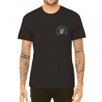 TEE SHIRT WETHEPEOPLE CREST BLACK