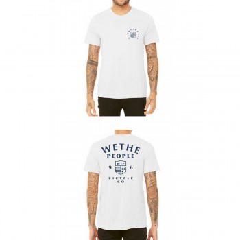 TEE SHIRT WETHEPEOPLE CREST WHITE
