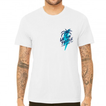WETHEPEOPLE SOUTH BEACH WHITE WTP X FLUOR COLLAB TEE SHIRT