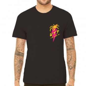 WETHEPEOPLE MIAMI BLACK WTP X FLUOR COLLAB TEE SHIRT