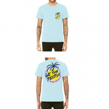 WETHEPEOPLE MIAMI ICE BLUE WTP X FLUOR COLLAB TEE SHIRT