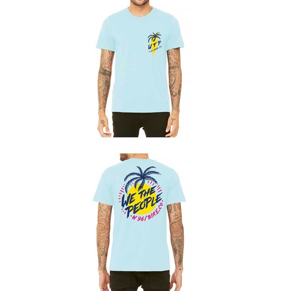 Wethepeople Miami Ice Blue Wtp X Fluor Collab Tee Shirt Frenchys T Distro Racer