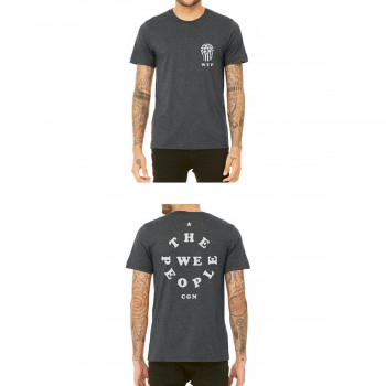 WETHEPEOPLE SKULL DARK HEATHER GREY TEE SHIRT
