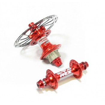 PRIDE RIVAL PRO DISC HUBS PAIR RED