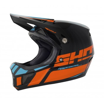 CASQUE SHOT ROGUE / REVOLT NEON ORANGE / BLUE