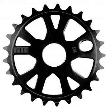 SPROCKET RADIO BIKE ALLOY BLACK