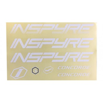 STICKERS KIT FRAME CONCORDE WHITE