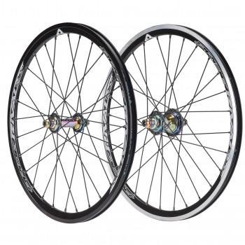 PAIRE DE ROUES PRIDE RACING EXP V2 OIL SLICK