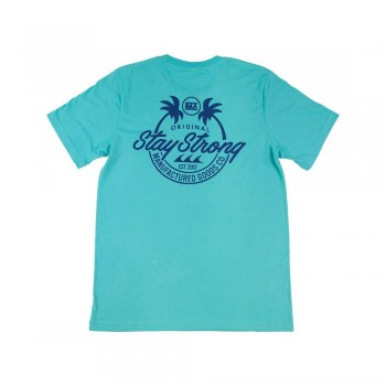 T-SHIRT STAYSTRONG CALI - TEAL