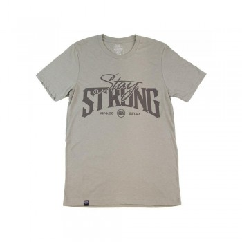 T-SHIRT STAYSTRONG BUILT TOUGH - HEATHER STONE