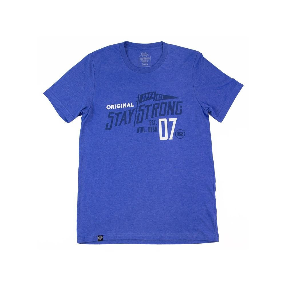 T-SHIRT STAYSTRONG MAST -  ROYAL BLUE HEATHER