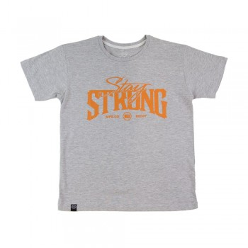 T-SHIRT STAYSTRONG BUILT TOUGH KID - HEATHER GREY