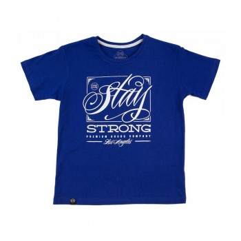 T-SHIRT STAYSTRONG DEMING KID - ROYAL BLUE