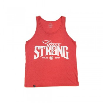 DEBARDEUR STAYSTRONG BUILT TOUGH - HEATHER RED