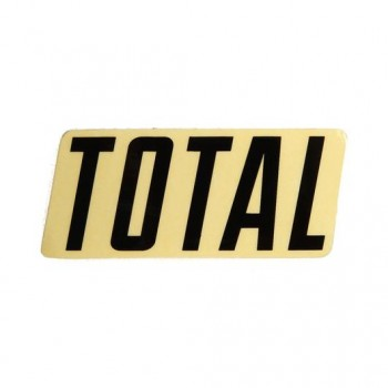 STICKER TOTAL NEW STYLE LOGO BLACK
