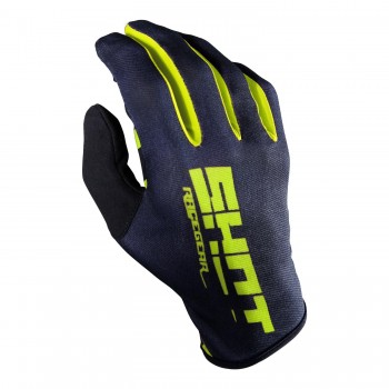 SHOT ROGUE KID BLACK NEON YELLOW GLOVES