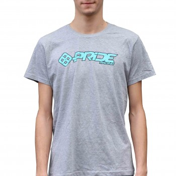 T-SHIRT PRIDE LOGO LIGHT GREY