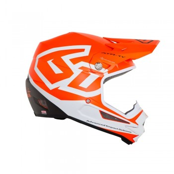 CASQUE 6D ATR-1Y MACRO NEON ORANGE T.XL KID