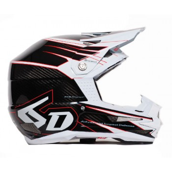 CASQUE 6D ATB-1 CARBON ATTACK WHITE T.L