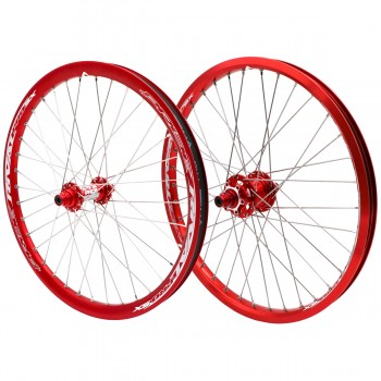 PRIDE RIVAL PRO SX DISC 36H RED WHEELSET