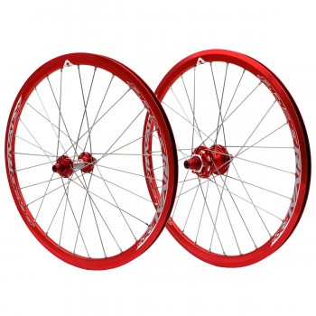 PRIDE RIVAL EXPERT DISC 28H RED WHEELSET