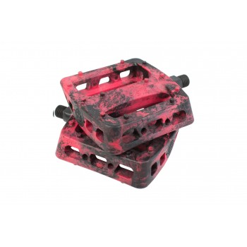 PEDALES ODYSSEY TWISTED PRO PC 9/16 BLACK/RED SWIRL