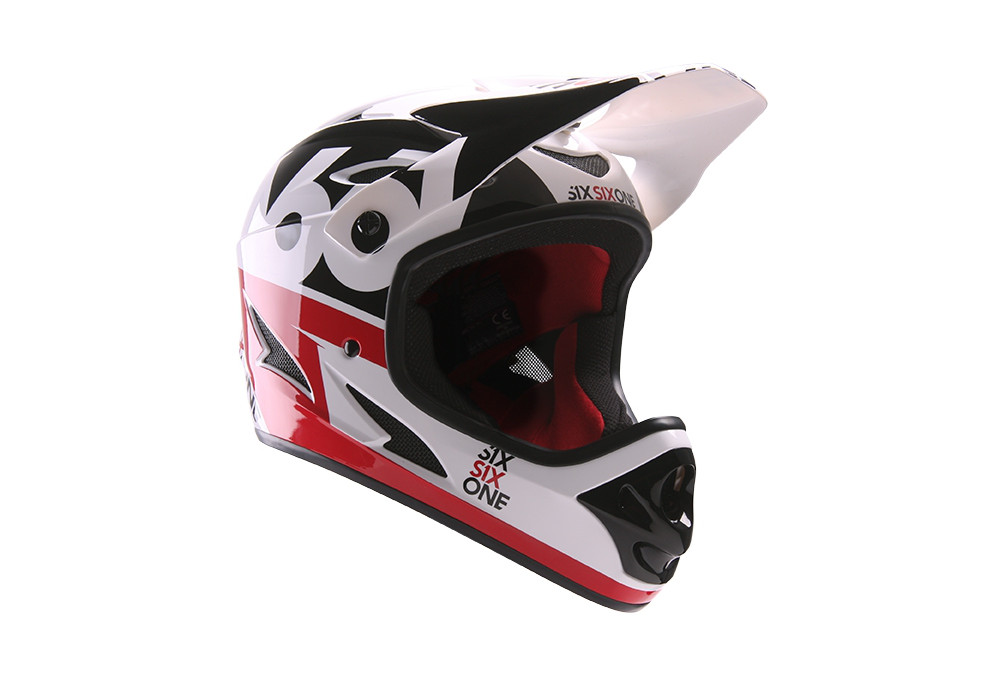 CASQUE SIXSIXONE COMP WHITE/RED 2016