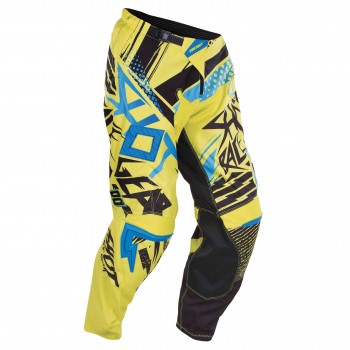 SHOT CONTACT 15 RAID PANTS NEON YELLOW/BLUE