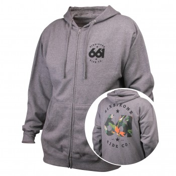 SWEAT CAPUCHE SIXSIXONE TROPICS FZ GREY T.L