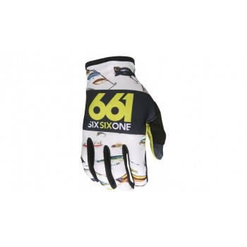 661 GLOVES COMP WHITE/YELLOW S.L