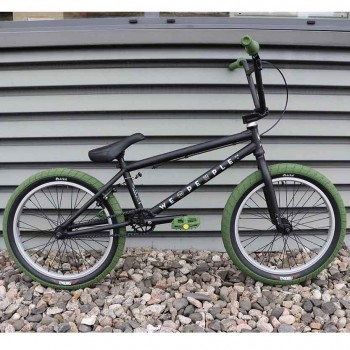 BMX WTP ARCADE MATT BLACK CUSTOM ARMY GREEN
