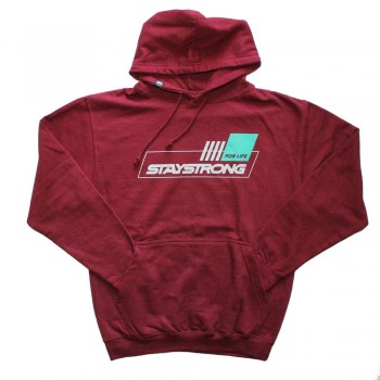 STAY STRONG FOR LIFE HOODY BURGUNDY