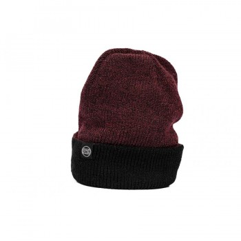 STAY STRONG FLECK CUFF BEANIE BURGUNDY