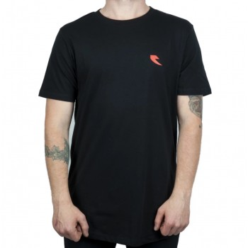 TALL ORDER RED SQUARE LOGO T-SHIRT BLACK