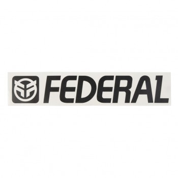 FEDERAL STICKERS 170mm DIE CUT - BLACK