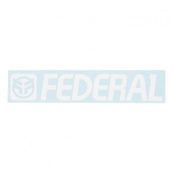 FEDERAL STICKER 170mm DIE CUT - WHITE