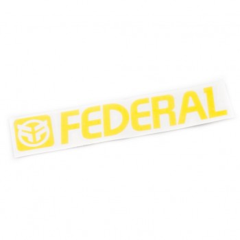 FEDERAL STICKER 170mm DIE CUT - YELLOW