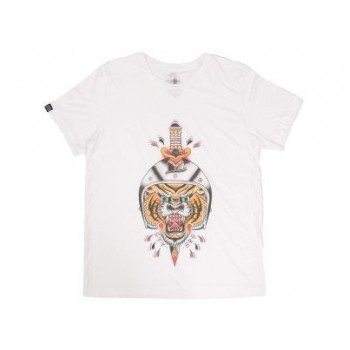 STAYSTRONG LION TATTOO TSHIRT - WHITE
