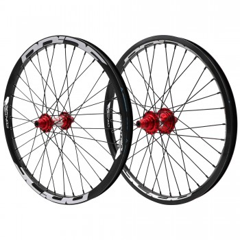 PRIDE RIVAL CONTROL PRO 36H / 36H HUB RED WHEELSET