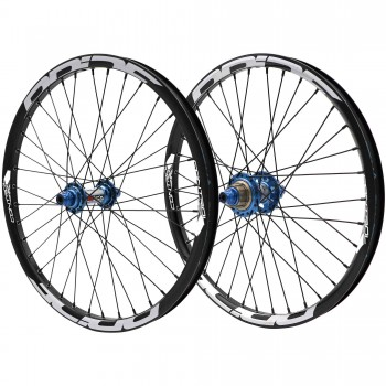 PRIDE RIVAL CONTROL PRO 36H / 36H DISC HUB BLUE WHEELSET