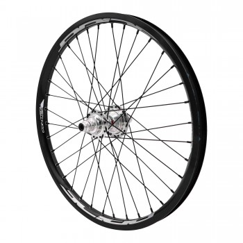 PRIDE RIVAL CONTROL PRO 36H / HUB HIGH POLISHED REAR WHEEL