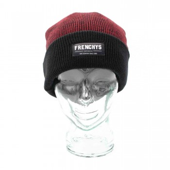 FRENCHYS LABEL BEANIE - BURGUNDY