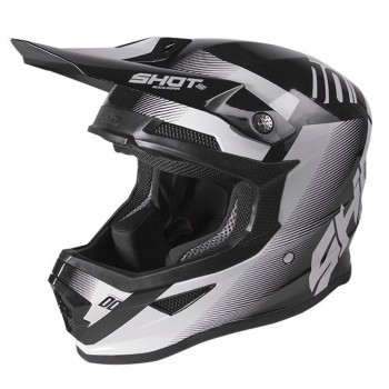 SHOT FURIOUS SHADOW TRUST HELMET BLACK WHITE GLOSSY